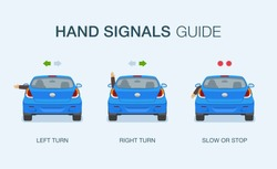 How to signal your intentions if turn signals don't work. Driving hand signals guide.