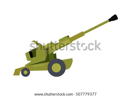 howitzer vector icon long