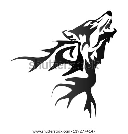 f7fbce55b0886 Isolated tattoo of black dragon or… Stock Photo 34628653 - Avopix.com