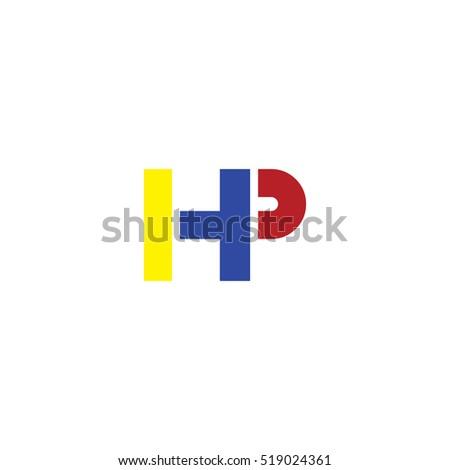 hp flat initial letter logo