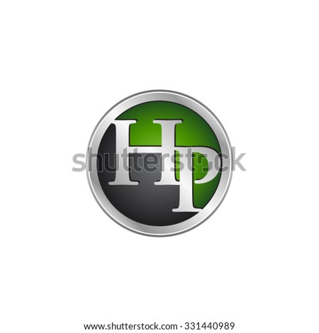 hp initial circle logo green