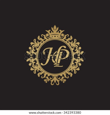 hp initial luxury ornament