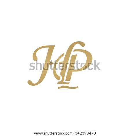hp initial monogram logo