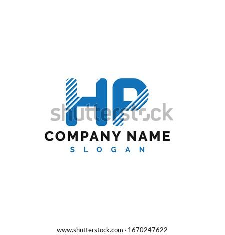 HP Letter Logo Design. HP letter logo Vector Illustration - Vector