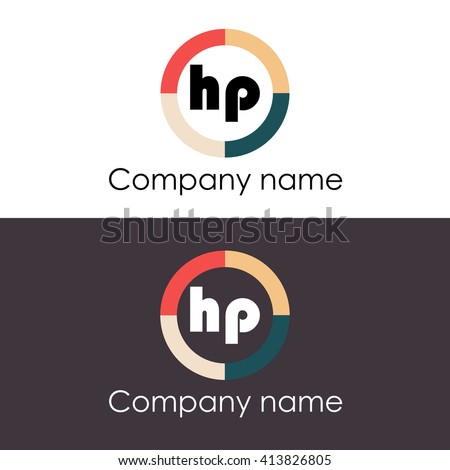 hp letters business logo icon