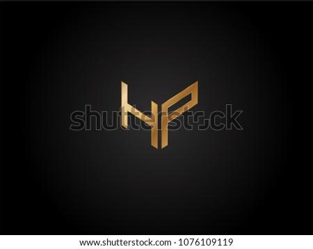 hp square shape letter logo