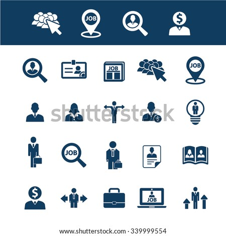 hr, career, job  icons, signs vector concept set for infographics, mobile, website, application  #339999554