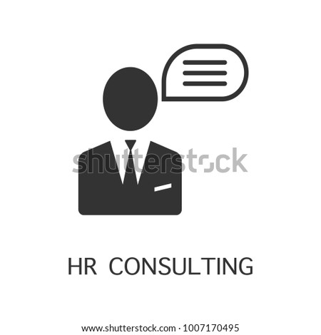 Hr consulting vector icon. Simple element illustration. Hr consulting symbol design from HR collection.