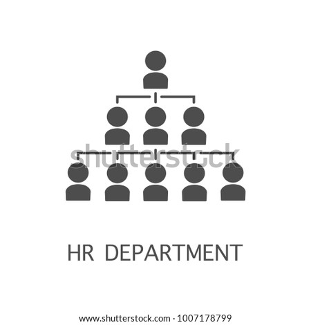 Hr department vector icon. Simple element illustration. Hr department symbol design from HR collection.