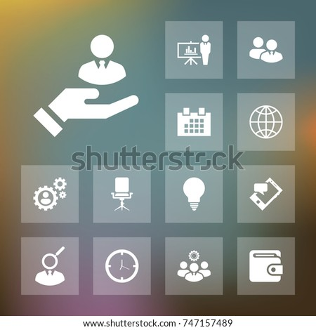 Hr icon business set simple human resources vector illustration