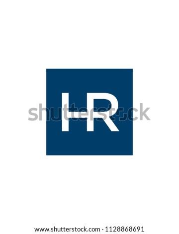 HR, Initial logo template Stock fotó ©