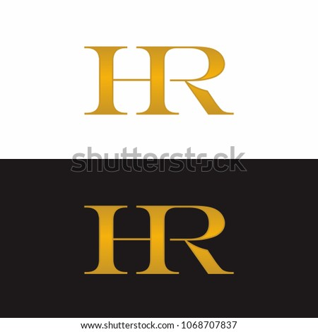 HR initial Luxury logo Design
