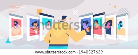 hr manager choosing resume with photo and personal info of new employees job candidates recruitment hiring