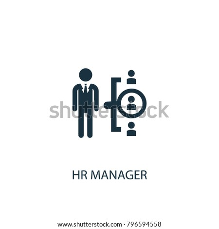 Hr manager icon. Simple element illustration. Hr manager symbol design from HR collection. Can be used in web and mobile.
