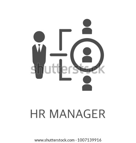 Hr manager vector icon. Simple element illustration. Hr manager symbol design from HR collection. Can be used in web and mobile.