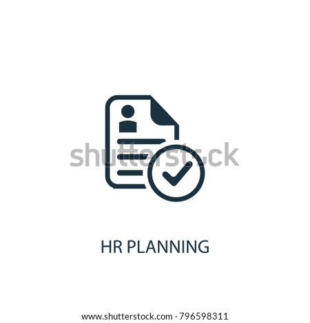 Hr planning icon. Simple element illustration. Hr planning symbol design from HR collection. Can be used in web and mobile.