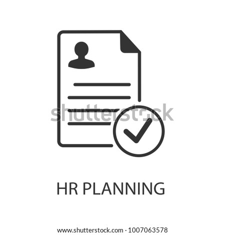 Hr planning vector icon. Simple element illustration. Hr planning symbol design from HR collection. Can be used in web and mobile.