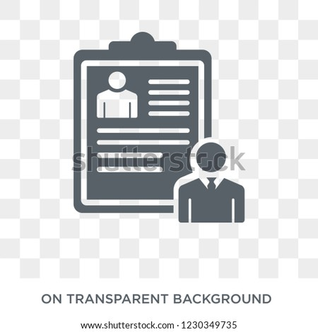 hr policies icon. Trendy flat vector hr policies icon on transparent background from general  collection. High quality filled hr policies symbol use for web and mobile
