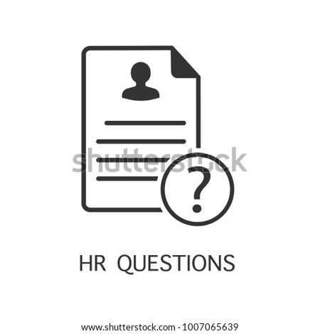 Hr questions vector icon. Simple element illustration. Hr questions symbol design from HR collection. Can be used in web and mobile.