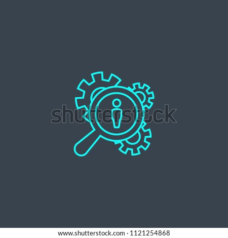 Hr services concept blue line icon. Simple thin element on dark background. Hr services concept outline symbol design from HR set. Can be used for web and mobile UI/UX