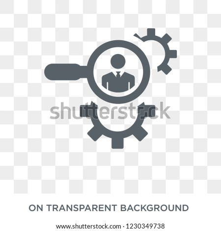 hr services icon. Trendy flat vector hr services icon on transparent background from general  collection. High quality filled hr services symbol use for web and mobile
