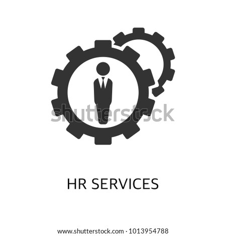 Hr services vector icon. Simple element illustration. Hr services symbol design from HR collection.