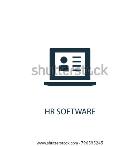 Hr software icon. Simple element illustration. Hr software symbol design from HR collection. Can be used in web and mobile.