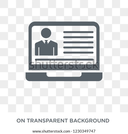 hr software icon. Trendy flat vector hr software icon on transparent background from general  collection. High quality filled hr software symbol use for web and mobile