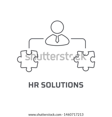 HR solutions icon. Trendy modern flat linear vector hr solutions icon on white background from thin line general collection, editable outline stroke vector illustration