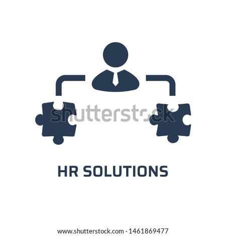 HR solutions icon. Trendy modern flat vector hr solutions icon on white background from general collection, vector illustration