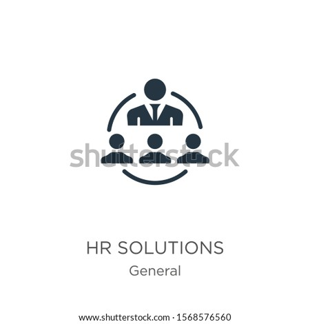 Hr solutions icon vector. Trendy flat hr solutions icon from general collection isolated on white background. Vector illustration can be used for web and mobile graphic design, logo, eps10