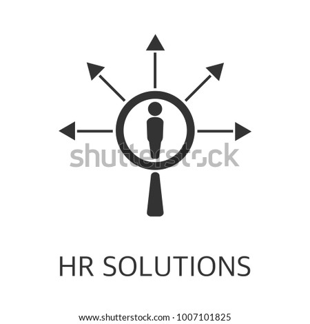 Hr solutions vector icon. Simple element illustration. Hr solutions symbol design from HR collection. Can be used in web and mobile.