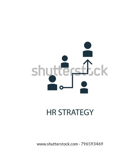Hr strategy icon. Simple element illustration. Hr strategy symbol design from HR collection. Can be used in web and mobile.