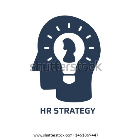 HR strategy icon. Trendy modern flat vector hr strategy icon on white background from general collection, vector illustration
