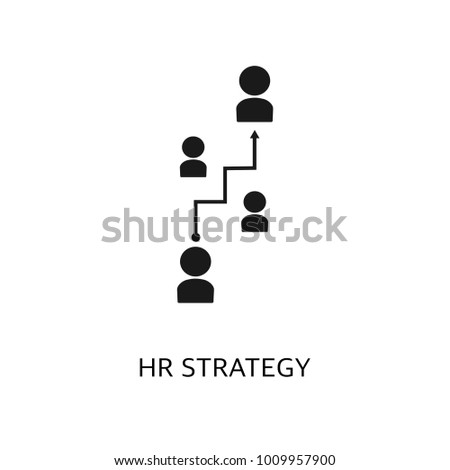 Hr strategy vector icon. Simple element illustration. Hr strategy symbol design from HR collection.