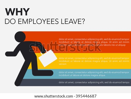 HR: Why do employees leave, brain drain info graphics