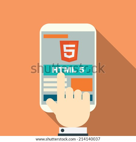 HTML 5 responsive web design on various devices. Eps10 vector illustration.