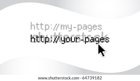 http addres with arrow illustration