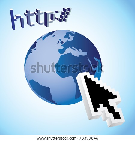 http earth web search engine - illustration