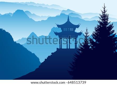 Huashan Mountain, Xi'an, China, province Shaanxi