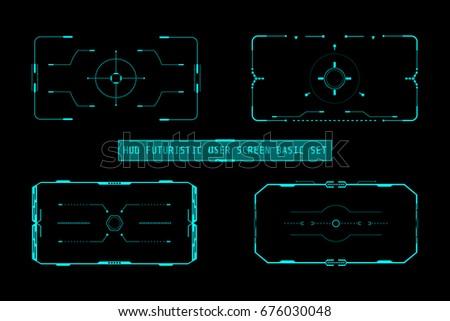 hud futuristic user screen