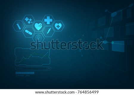 Hud Interface Virtual Hologram Future System Health Care Innovation Concept Background Abstract Technology