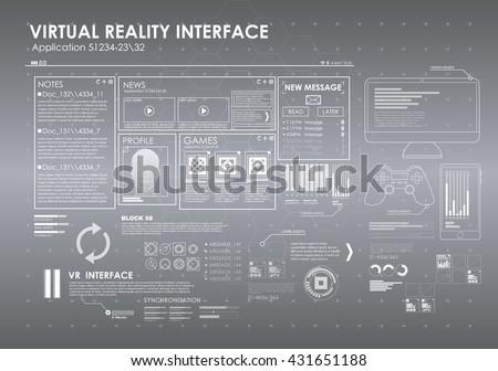 Hud Interface Vector Set - Download Free Vector Art, Stock Graphics ...