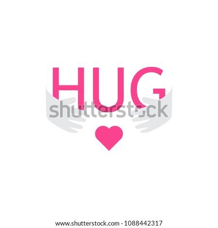 hug hand with heart logo