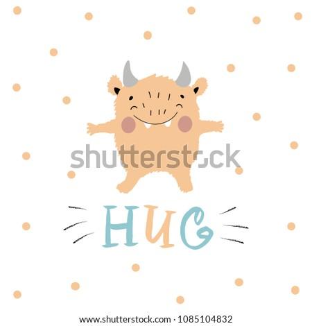hug nursery color poster for