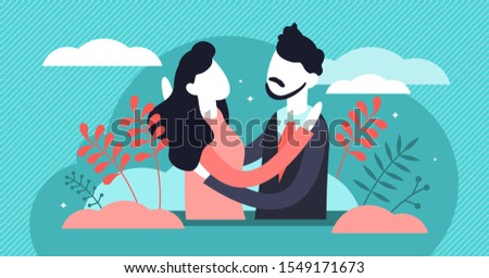 hug vector illustration flat