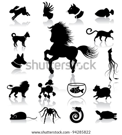 Huge Animal Icon Symbol collection EPS 8 vector, grouped for easy editing. No open shapes or paths.