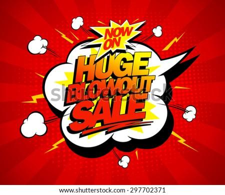 huge blowout sale vector pop