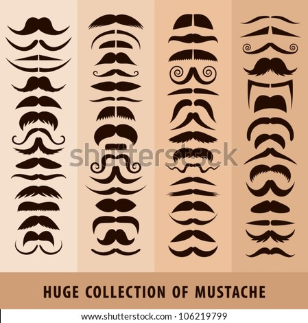Huge collection of mustache.
