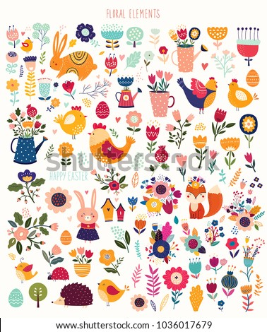 Huge collection of spring elements